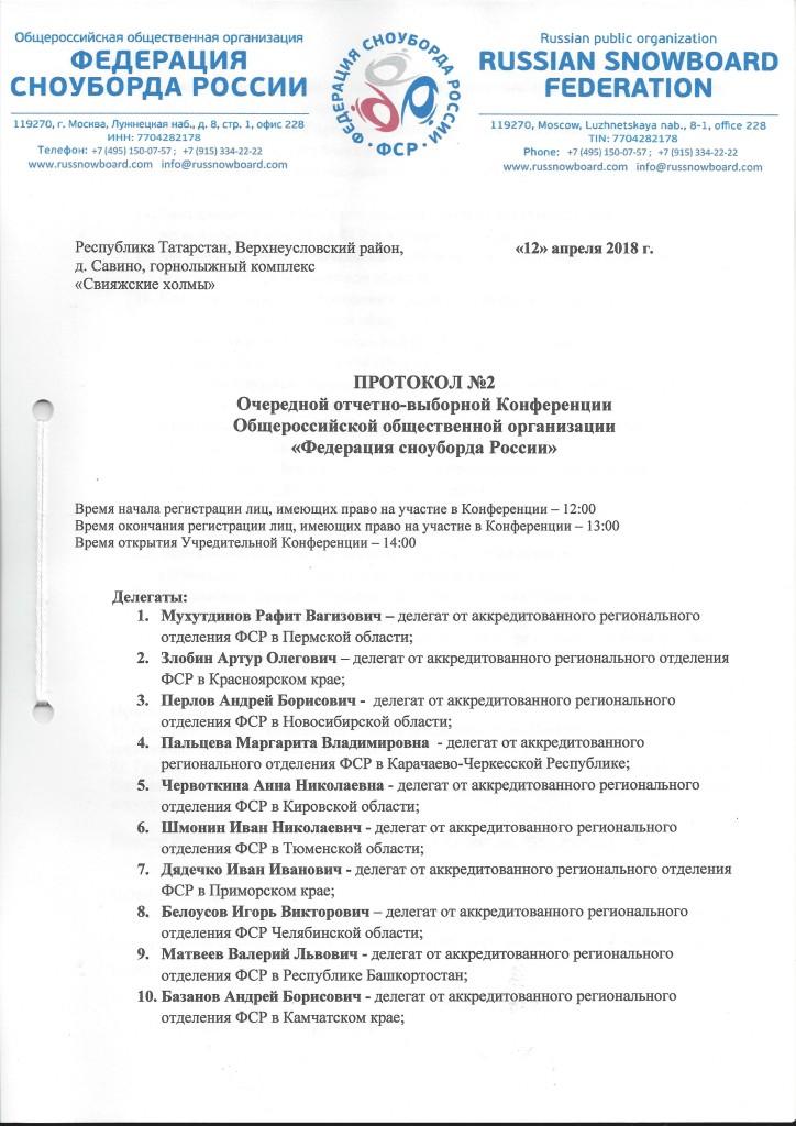 Протокол конференции 1 стр.