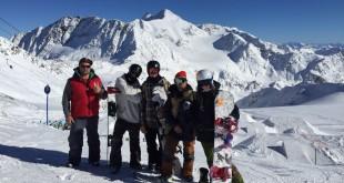 Тренировка SBS Сборной России по сноуборду в Штубае