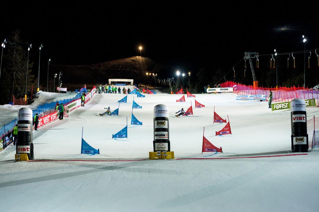 FIS Snowboard World Cup - Cortina d'Ampezzo ITA - PSL - FISCHNALLER Roland ITA and SOBOLEV Andrey RUS © Miha Matavz