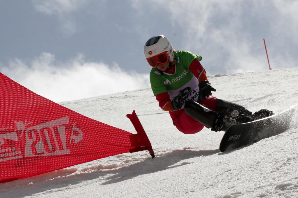 Ekaterian Tudegesheva (RUS) -Sierra Nevada 2017 FIS Snowboard World Championships - PGS