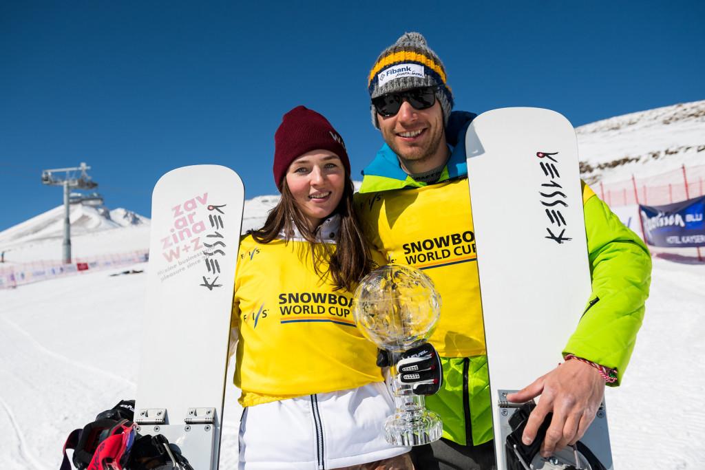 FIS Snowboard World Cup - Kayseri TUR - PGS -ZAVARZINA Alena RUS and YANKOV Radoslav BUL © Miha Matavz/FIS