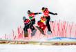 FIS Snowboard World Cup - Feldberg GER - SBX - OLYUNIN Nikolay RUS in Red, VEDDER Jake USA in Blue, VUAGNOUX Ken FRA in Yellow, NOERL Martin GER in Green © Miha Matavz/FIS