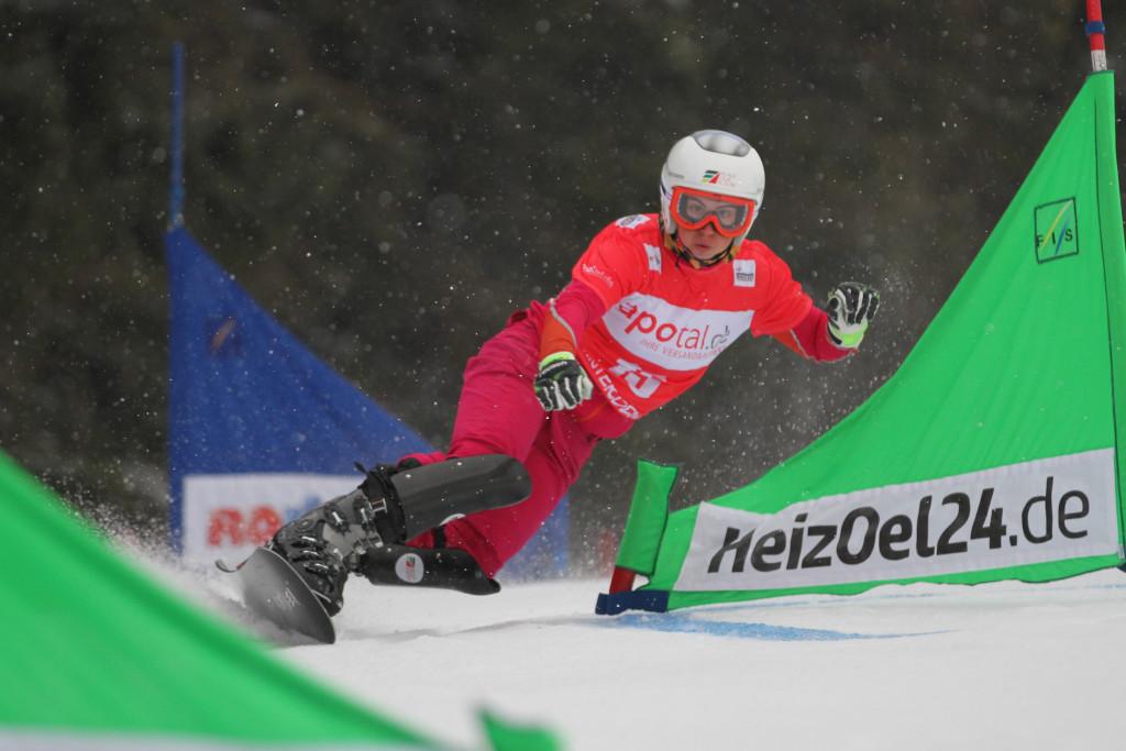 Ekaterina Tudegesheva (RUS) competes at PSL World Cup Winterberg