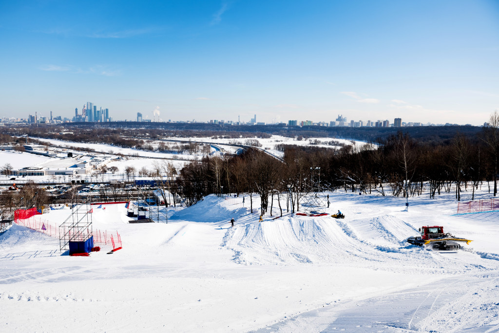 FIS Snowboard World Cup - Moscow RUS - SBX - Course overview © Miha Matavz/FIS
