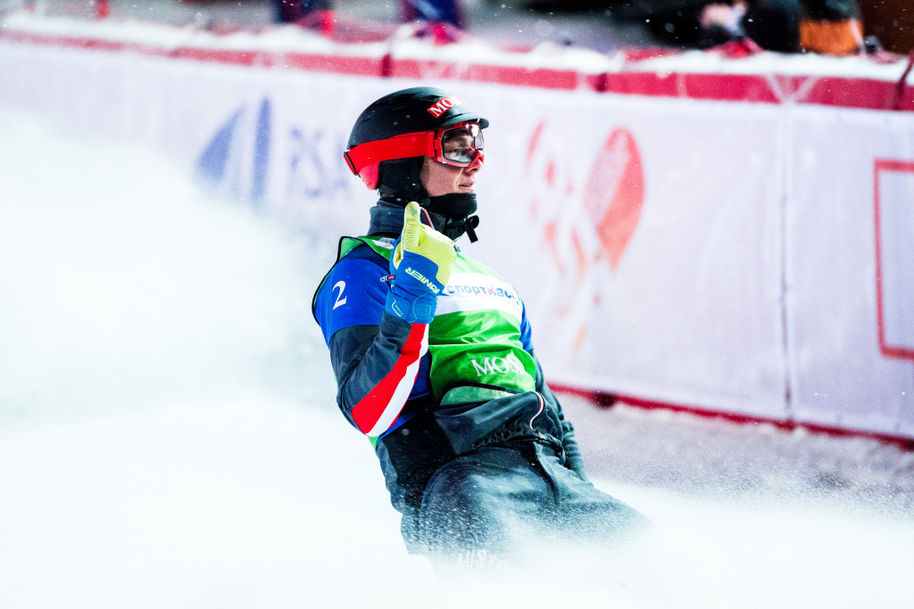 FIS Snowboard World Cup - Moscow RUS - SBX - HAEMMERLE Alessandro AUT in Green © Miha Matavz/FIS