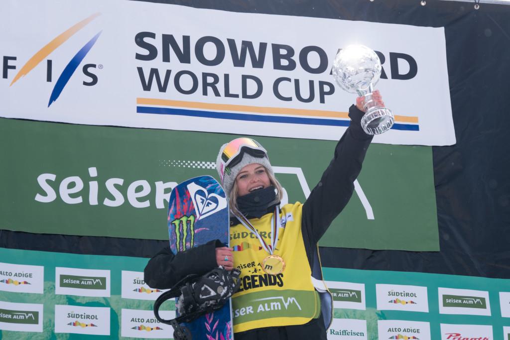 Ladies' slopestyle World Cup winner Sofya Fedorova (RUS). Photo: Mateusz Kielpinski (FIS).