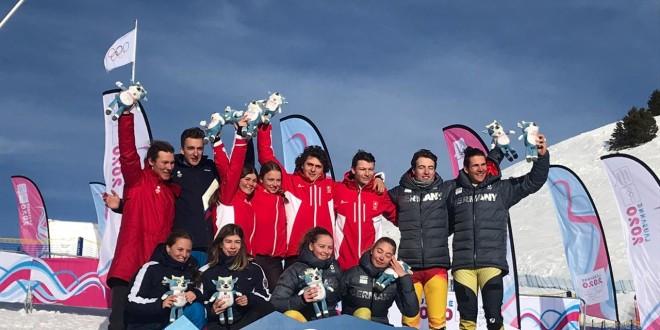 Российская команда завоевала серебро в ски-сноуборд-кроссе на юношеской Олимпиаде