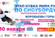 30 января —Кубок мира по сноуборду в Москве!